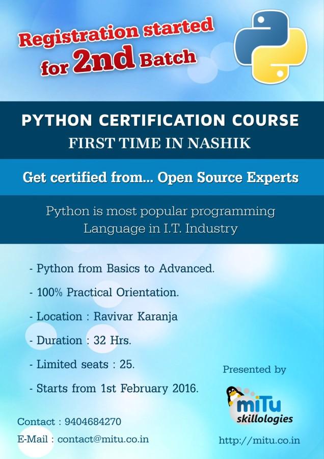 Mitu Certified Python Programmer